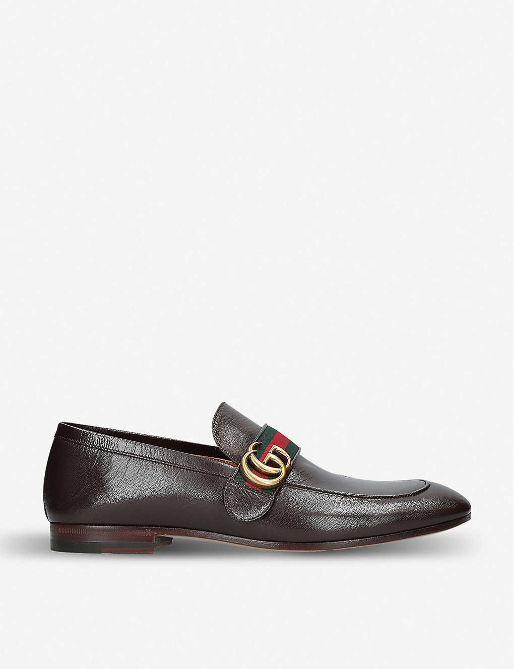 GUCCI: Donnie GG leather loafers