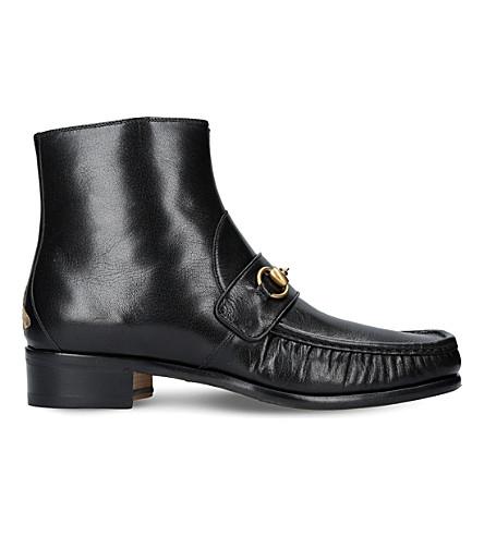 GUCCI - Vegas horsebit leather boots | Selfridges com