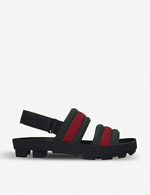 GUCCI Sam webbing and leather sandals