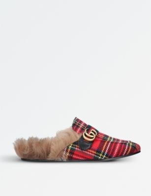 e1086d438 GUCCI - Princetown tartan slippers | Selfridges.com