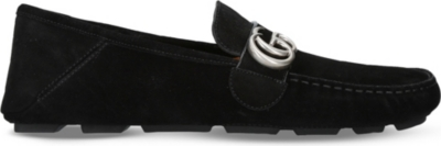 a17b9b121e5 GUCCI - Noel suede driving shoes