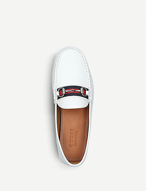 GUCCI Leather driving shoes