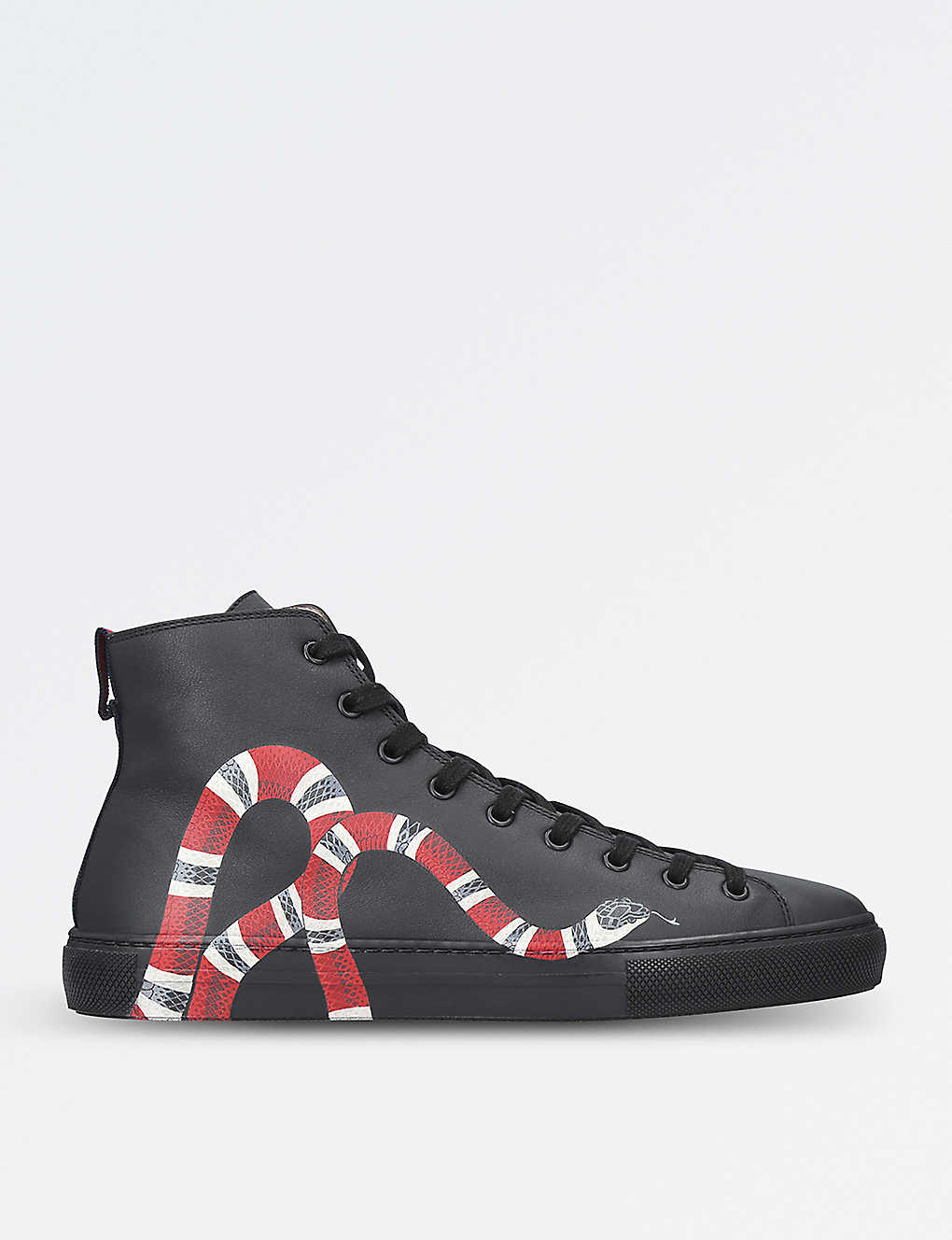 a6e37dc5eb9 GUCCI - Major snake-embellished leather trainers