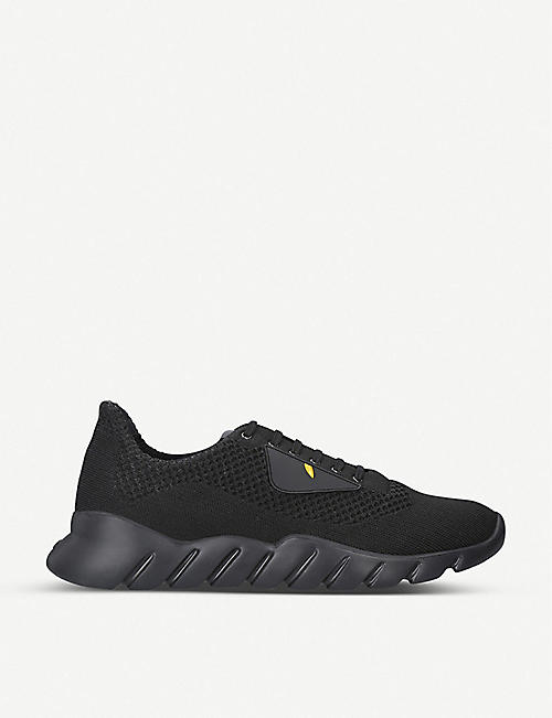 FENDI Monster knit runner trainers