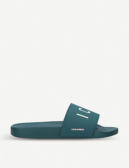 DSQUARED2 Icon logo-embossed rubber sliders