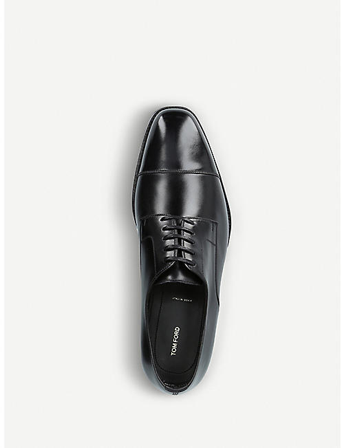 TOM FORD Wessex leather derby shoes