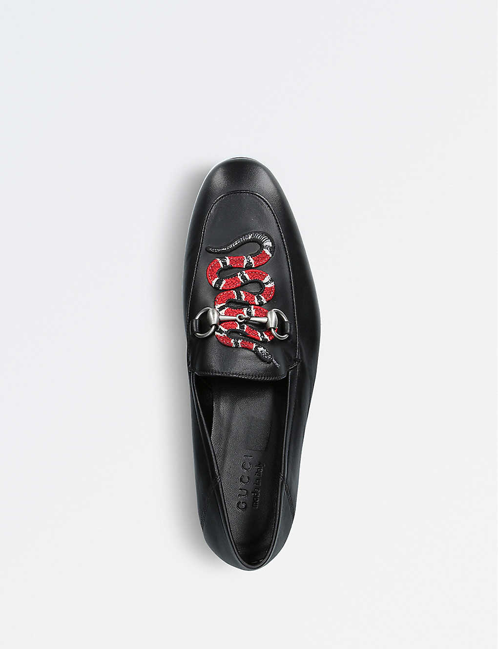 2f14215a2fe ... Kingsnake leather loafers - Black ...