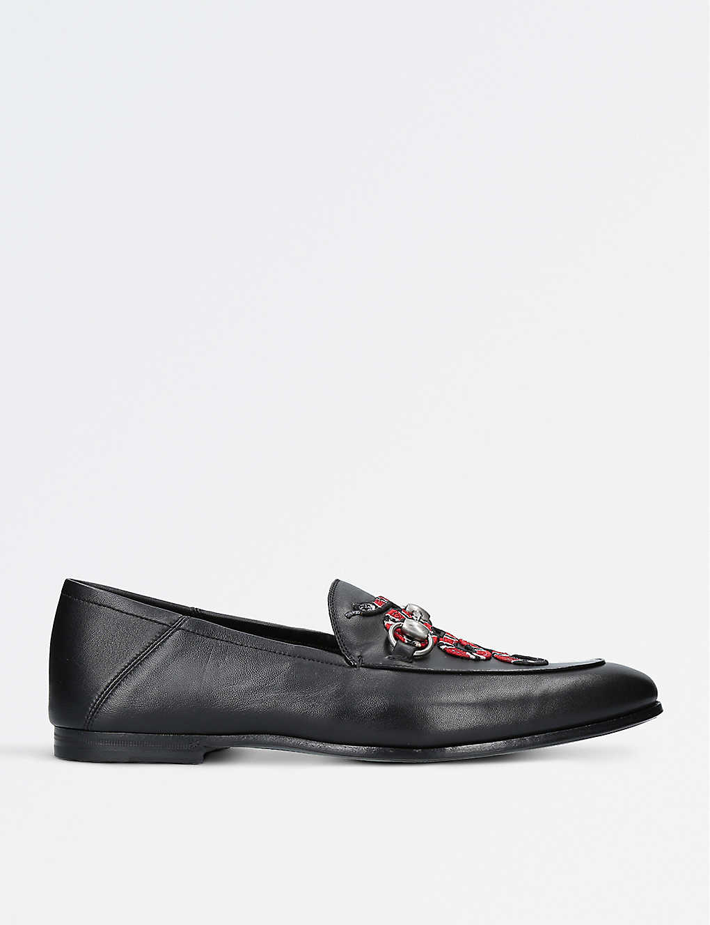 37a946fe0cea6 GUCCI - Kingsnake leather loafers | Selfridges.com