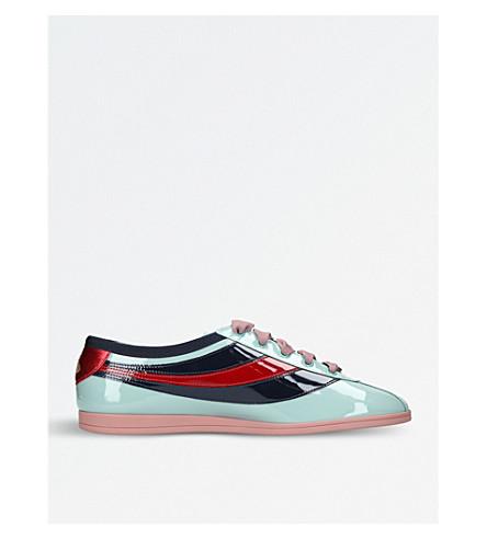 877e4c95ec8 GUCCI Falacer patent leather sneakers (Pale+blue