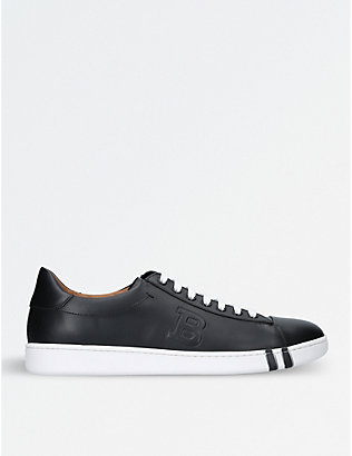 BALLY: Asher leather tennis trainers