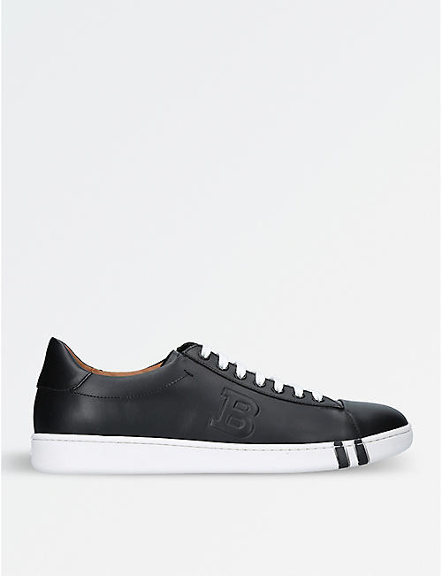 BALLY Asher leather tennis trainers