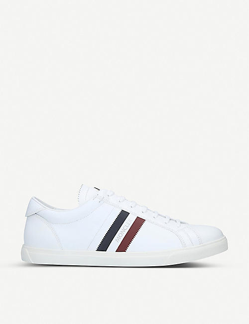 MONCLER Monoaco leather trainers
