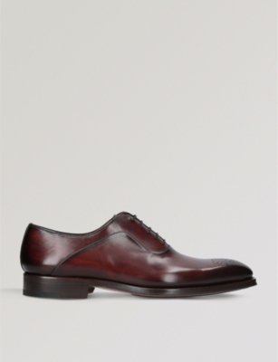 MAGNANNI Perforated leather Oxford brogues