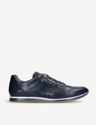MAGNANNI Striped Tonal Runner leather trainers