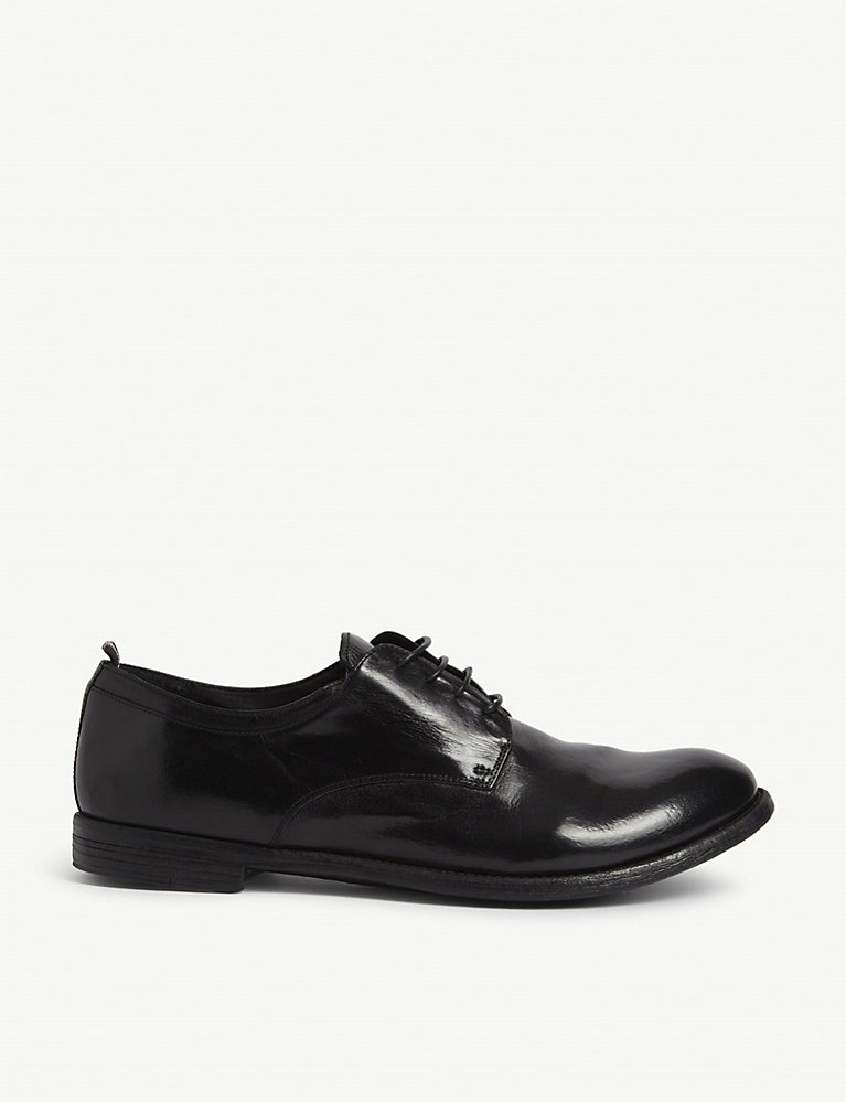 Archive leather derby shoes
