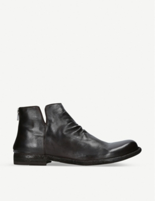 OFFICINE CREATIVE Ideal zip leather ankle boots