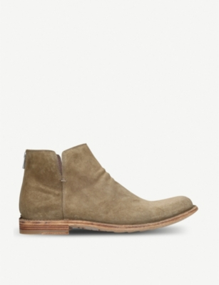 OFFICINE CREATIVE Ideal back zip suede boots