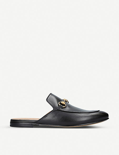 GUCCI: Princetown leather slippers
