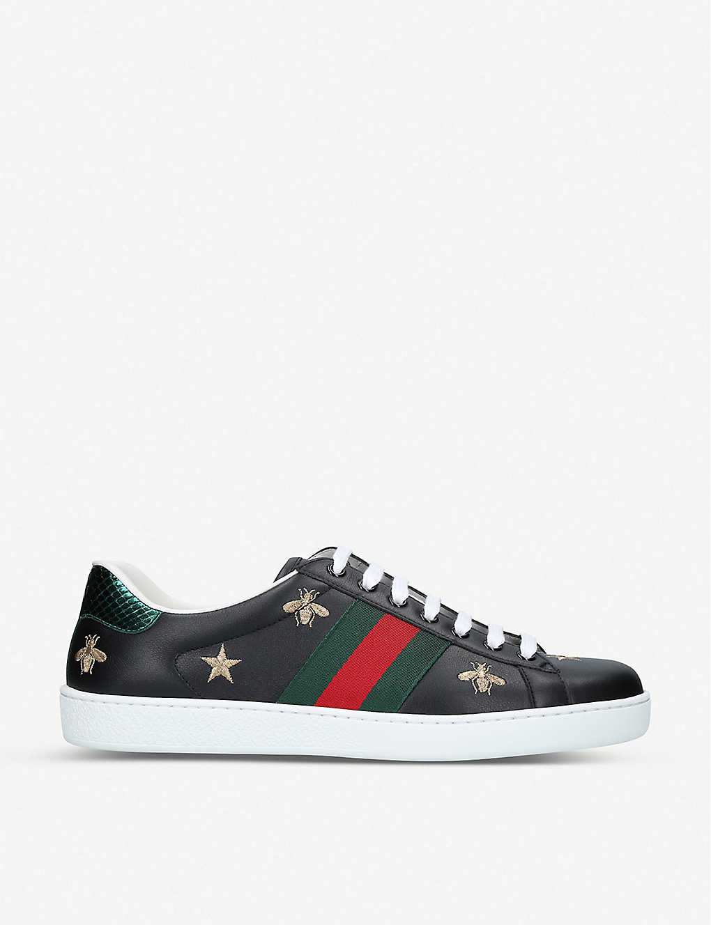 996d90e280a New Ace bee-embroidered leather trainers - Black ...