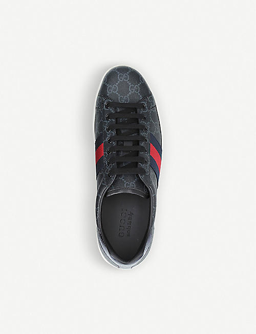 new product ef797 94643 GUCCI New Ace GG canvas trainers