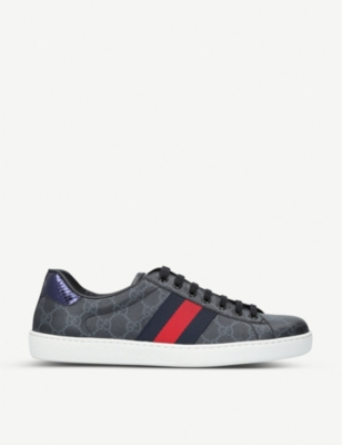 GUCCI New Ace GG canvas trainers