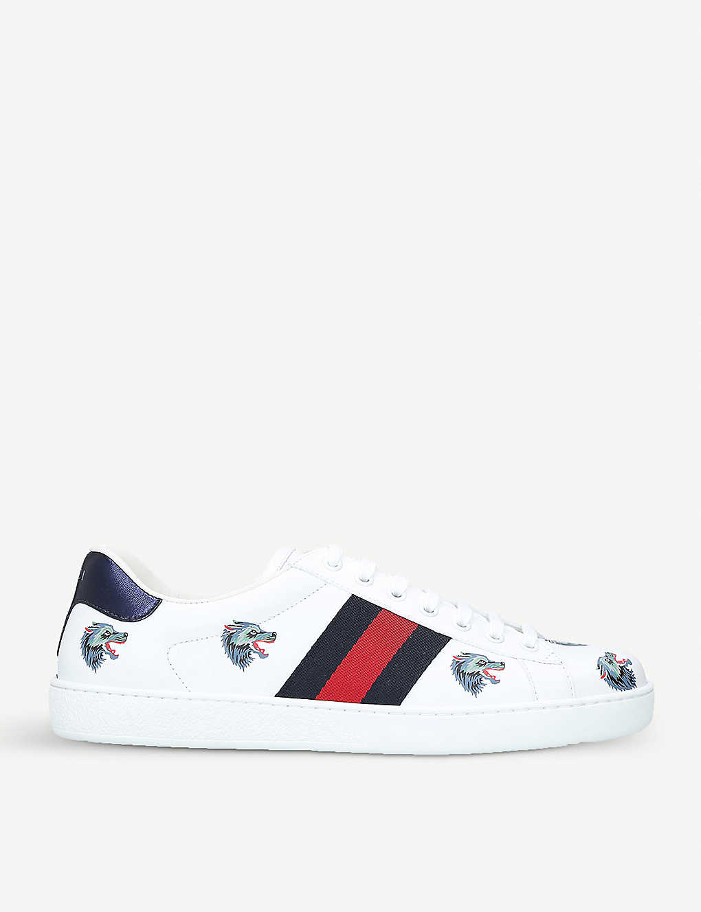 acc32924f66 ... New Ace wolf-embroidered leather trainers zoom ...