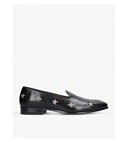 1b723ec680c GUCCI - Gallipoli bee leather loafers