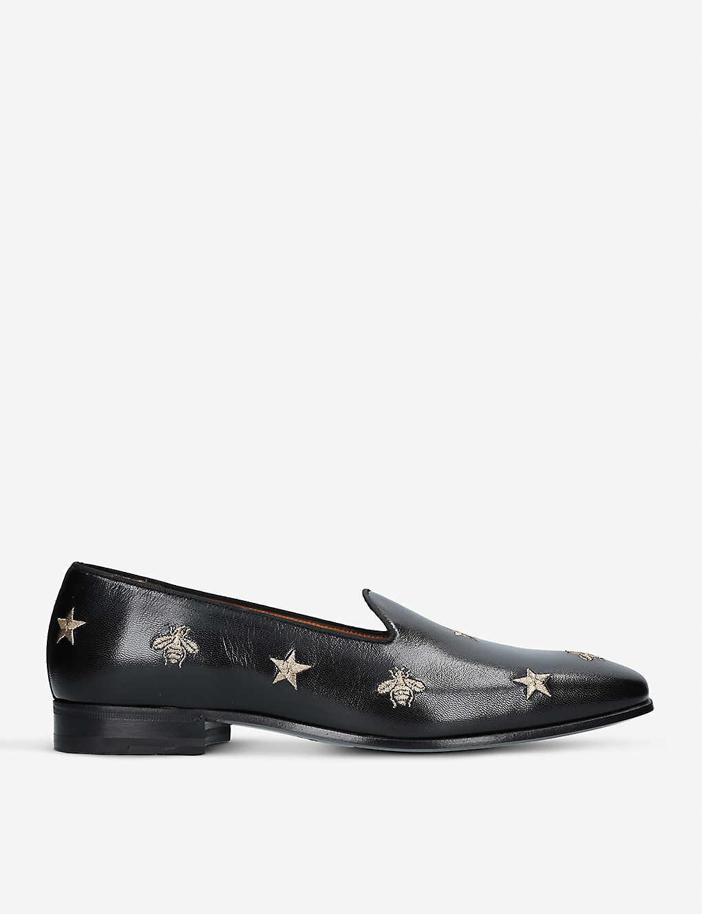 25ececa36 GUCCI - Gallipoli bee leather loafers | Selfridges.com