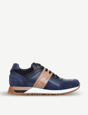 FENDI Runner leather low-top trainers