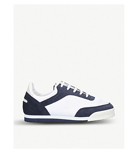 b6af6d51e68a COMME DE GARCON SHIRT - Spalwart Pitch canvas and suede trainers ...