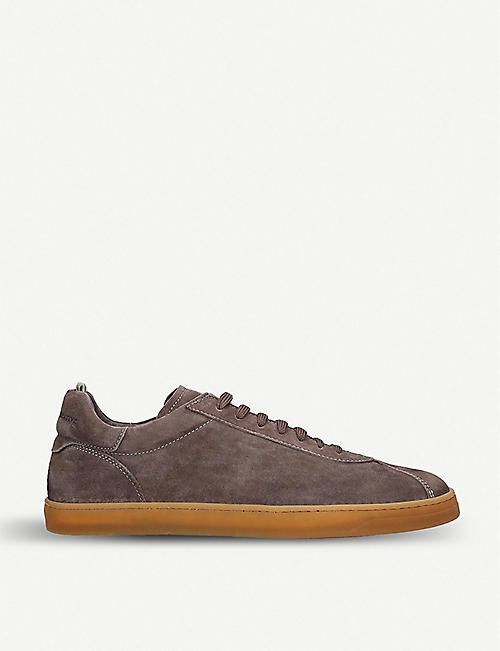 OFFICINE CREATIVE: Karma suede trainers