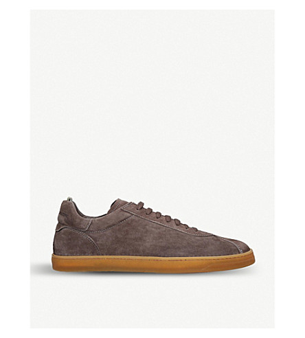 Officine Creative Karma Suede Trainers In Grey