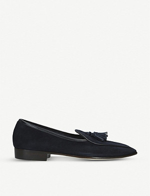 BAUDOIN & LANGE Sagan Grand suede tassel loafers