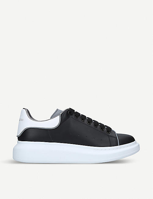 ALEXANDER MCQUEEN Show leather platform trainers e86ed64bf8fb