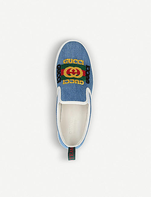 GUCCI Dublin denim skate shoes