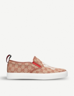 GUCCI Dublin GG-print NY Yankees canvas skate shoes