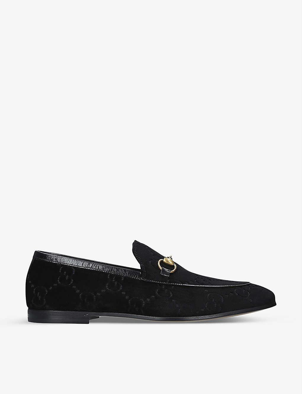 0f46e123046 Jordaan GG velvet loafers - Black ...