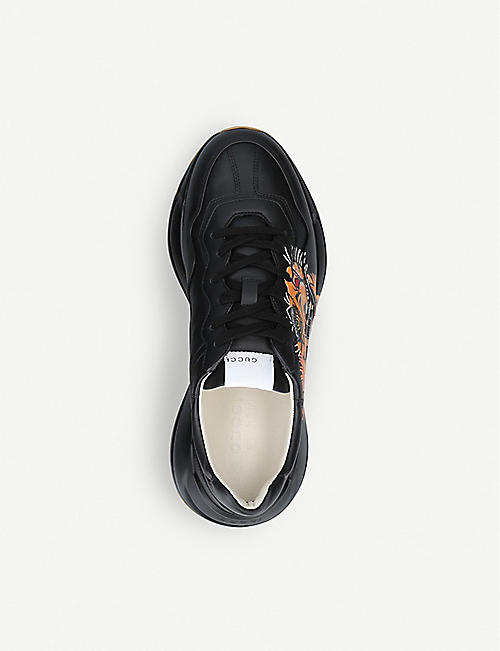 GUCCI Rhyton leather trainers
