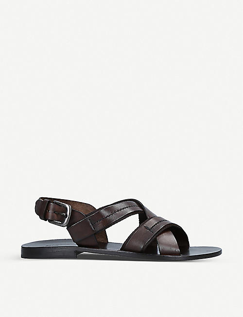 STEMAR Nos strap leather sandals