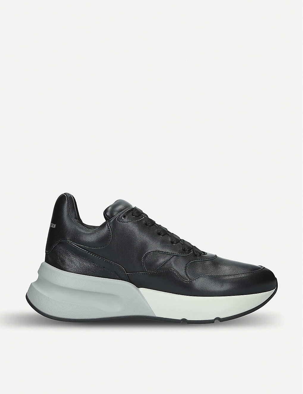 10d03a8f618bd ALEXANDER MCQUEEN - Mens Runner wedge sole leather trainers ...