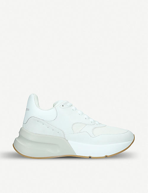 d0a5aeb7fe5b ALEXANDER MCQUEEN Runner leather and mesh trainers