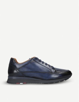 BALLY Ascan leather trainers