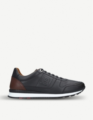 BALLY Asony perforated leather trainers