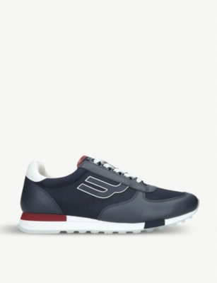 BALLY Gavino leather and mesh trainers
