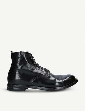 OFFICINE CREATIVE Anatomia 16 leather ankle boots