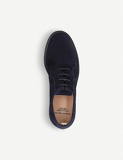 OFFICINE CREATIVE Durham washed suede Derby shoes