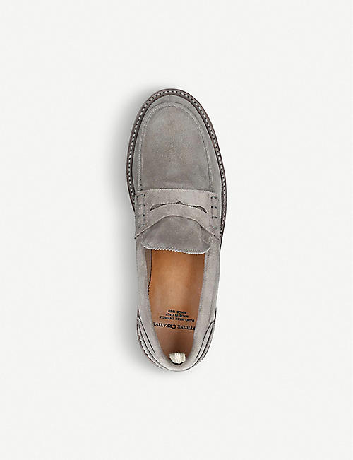 OFFICINE CREATIVE Warwick suede penny loafers