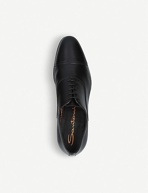 SANTONI Kenneth unlined leather Oxford shoes