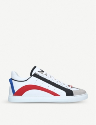 DSQUARED2 551 low-top leather trainers