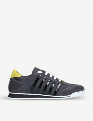 DSQUARED2 5 Stripes suede trainers